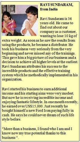 India Stories With Herbalife