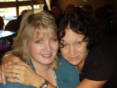 Helene nearly 50 (left )